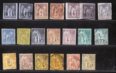 Colonies Générales France 1859/1871 – Selection of 45 timbres between Yvert n° 1 and 59
