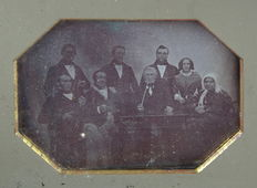 Attributed to Carl Rensing (1826-1898) - Group portrait 8 people