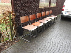 Manufacturer unknown - cantilever chairs, 6 pieces.