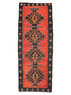 Antique Moroccan Kilim - First half of the 20th century - 370 x 150 cm