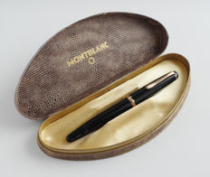 MONTBLANC fountain pen black Monte Rosa 1955, original writing nib 14 c: with original gift box