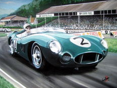 Fine Art :Stirling Moss in an Aston Martin Goodwood 1958 TT
