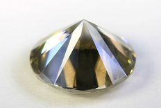 Diamond – 1.32 ct – fancy yellow, greyish