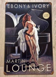 Martini Lounge Ebony & Ivory Pin Up - Greg Hildebrandt - 2012