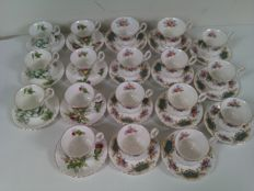 Royal Albert - 18 Bone china England kop en schotels porcelain