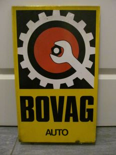original Bovag car enamel sign