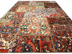 """Patchwork – 237 x 167 cm. – """"Combination of the most beautiful Persian carpets in beautiful condition""""."""
