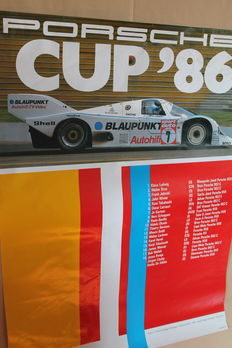 "Porsche ""Cup 86"" - Original Vintage Poster (101x76cms) Printed in Germany 11/86"