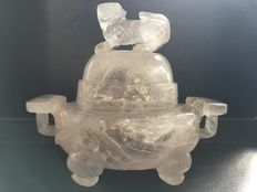 A rock crystal censer with cover - China - late 19th/early 20th century