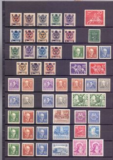 Sweden 1918/1942 - Compound of stamps and series - between Yv 112 and 295