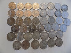 Italy and Vatican City – 500 Lire (44 coins) – Silver.