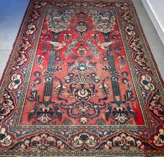 Stunning vintage Keshan Persian carpet - 200 x 135 cm - Beautiful appearance - with certificate