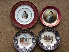 Four wall plates of man in uniforn