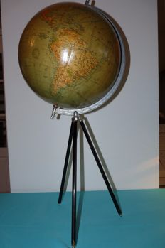 Large Dutch globe on stand