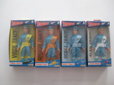 Thunderbirds - Matchbox - large action figures - 1993 - 4 actions figure and accessories - Scott, Virgil, Alan and Gordon Tracy