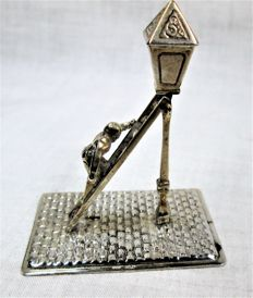 Silver miniature lantern lighter by H hooykaas