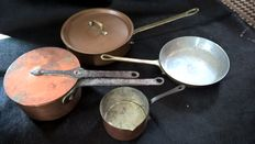 Copper pans and lids