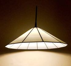 Large stylish stained glass lamp of considerable size with a diameter of 50 cm