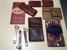 Lot cigars material 9 pieces