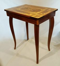 Music table / games table - Italy - second half 20th century