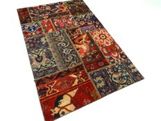 Patchwork – 168 x 110 cm. – combination of the most beautiful,  Persian carpets in beautiful condition.