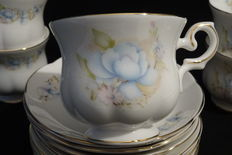 21 Cups and saucers - Royal Canterbury porcelain - Fine bonne China