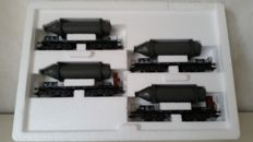 Märklin H0 - 48250 - Four-piece Carriage set *Carbide bottles* of the DB