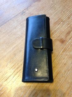 Mont Blanc Meisterstuck black leather (fountain) pen pouch