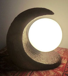 Exclusive earthenware table lamp