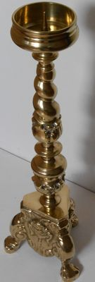 Beautiful church candlestick of solid copper