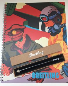 Breitling - Ballpoint limited edition Pop Art Notepad and pencil - Collectors item