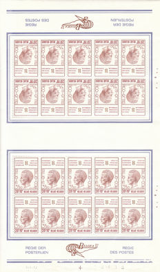 Belgium - Collection stamp sheets - blocks - sheets - booklets