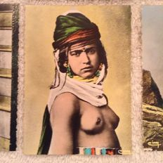 Collect cards with different African women from the collection Artistique L'Afrique Type de Femme - first half 20th century.