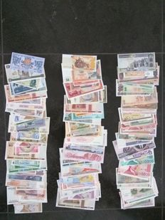 World - Collection of approx. 150 banknotes from around the world