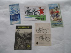 Hercules / Göricke - Original set of 5 old leaflets Hercules, Goricke motorcycles, mopeds and bicycles - 1955