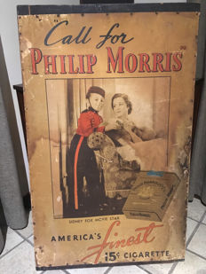Advertising sign - Philip Morris - Approx. 1930-1940