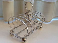 Antique Toast Rack in English Silver Plate, 1880 by Mappin Brothers
