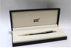 Montblanc Starwalker ballpoint pen in black resin and Platinum plated in case
