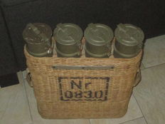 Swiss Artillery Shell containers with basket Ordnance Nr 0830