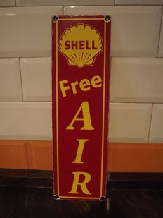 Enamel sign-SHELL free air-21ST Century