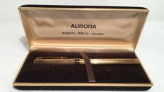 Aurora-solid silver fountain pen