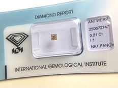 0.21 ct Princess cut natural fancy brown diamond