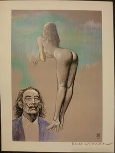 Graphic art; Milo Manara – Il Pittore e la Modella Salvador Dalì – Late 20th Century