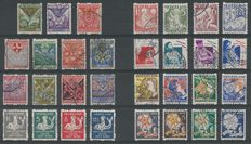 The Netherlands 1925/1933 - Roll perforated children's stamps - NVPH R71/R101