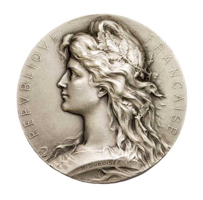 France – 20th century – Medal of 'Marianne / République Française' by H. Dubois – Silver