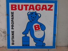 Butagaz advertising plaque, in good condition