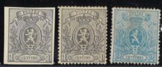 Belgium 1866 - Lion Selection - OPB 22 / 24A
