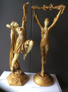 Gorgeous Art Nouveau set of statues