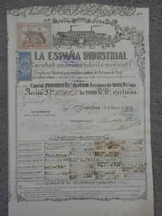 La Espana Industrial - 1854 - Deco share
