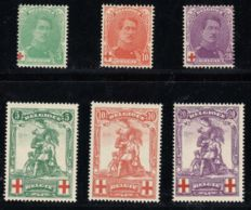 Belgium 1914 – Full year including Statue de Mérode – OPB 126/131.